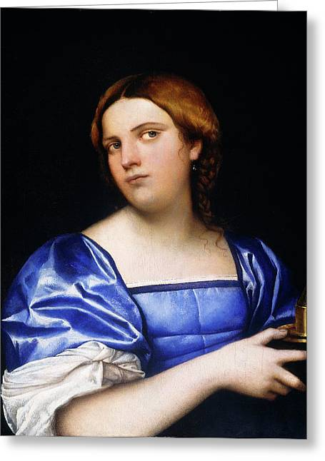 Sebastiano Del Piombo, Portrait Of A Young Woman As A Wise Greeting Card by Litz Collection