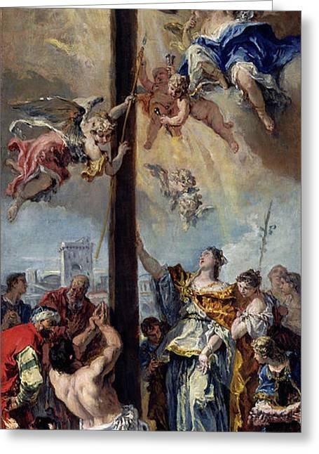Sebastiano Ricci, The Exaltation Of The True Cross Greeting Card