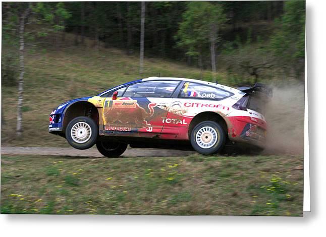Sebastien Loeb - Repco Rally Australia Greeting Card by Lyle McNamara