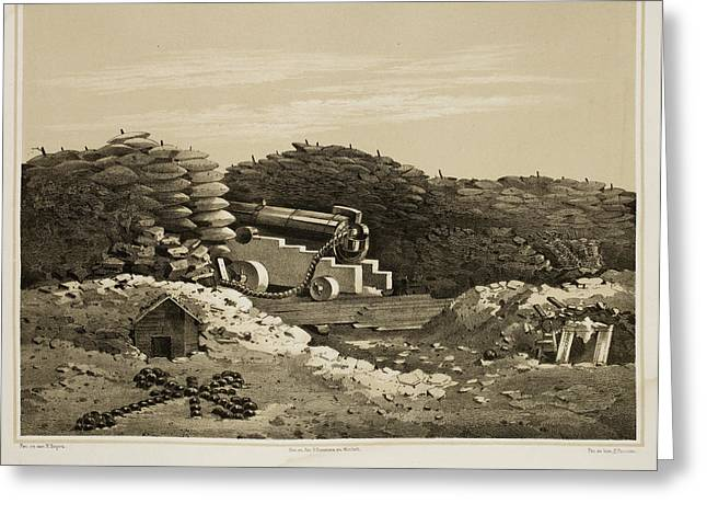 Sebastopol Front Line Trenches Greeting Card by British Library