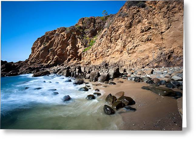 Secluded Beach Cove Greeting Card