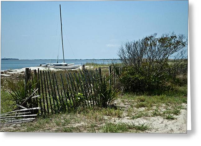 Greeting Card featuring the photograph Secluded Beach Wat 157 by G L Sarti