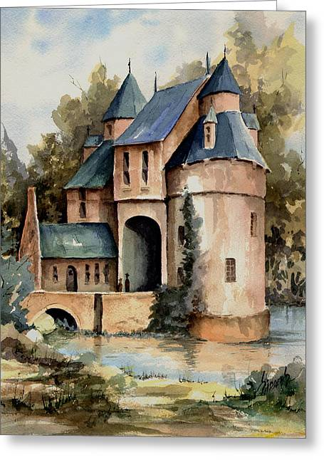 Secluded Castle Greeting Card by Sam Sidders