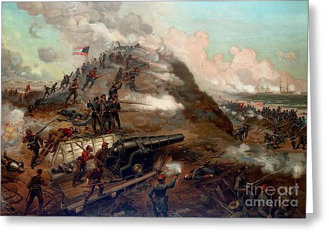 Second Battle Of Fort Fisher Greeting Card by American School