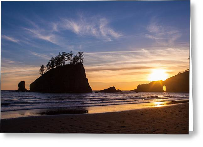 Second Beach Sunstar Almost Greeting Card by Mike Reid