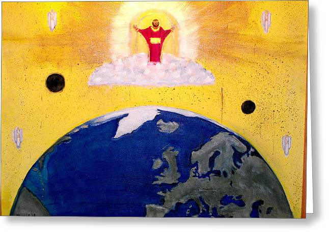 Second Coming Of Jesus Greeting Card by Larry Farris
