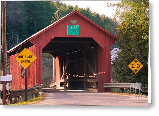 Second Covered Bridge. Greeting Card
