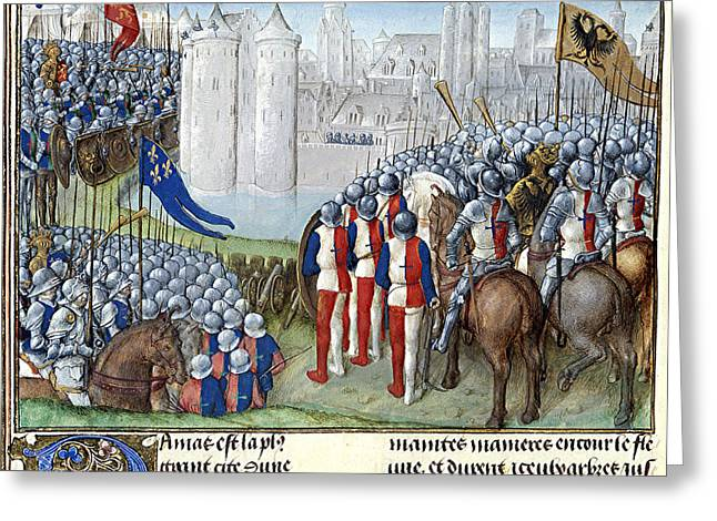 Second Crusade, Siege Of Damascus, 1148 Greeting Card by British Library