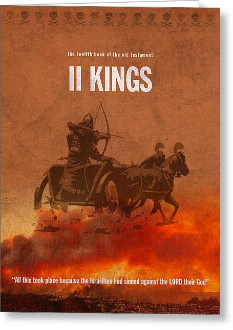 Second Kings Books Of The Bible Series Old Testament Minimal Poster Art Number 12 Greeting Card by Design Turnpike