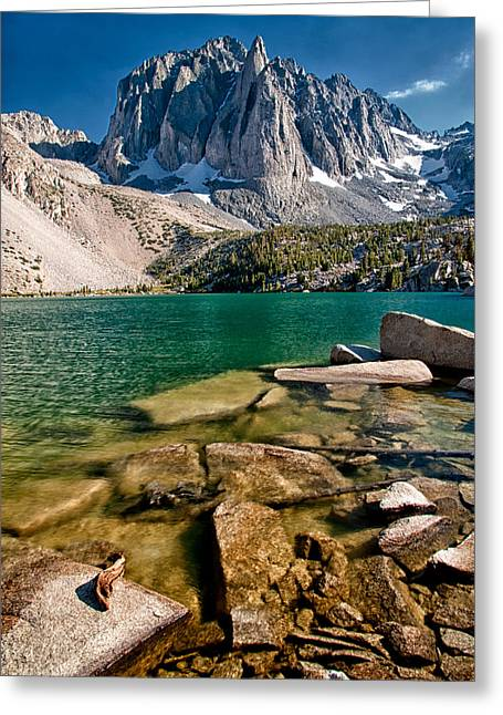 Second Lake And Temple Crag Greeting Card