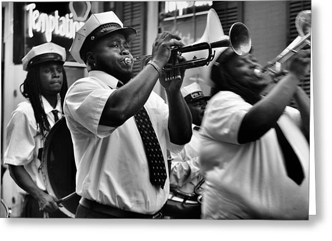 Second Line Greeting Card