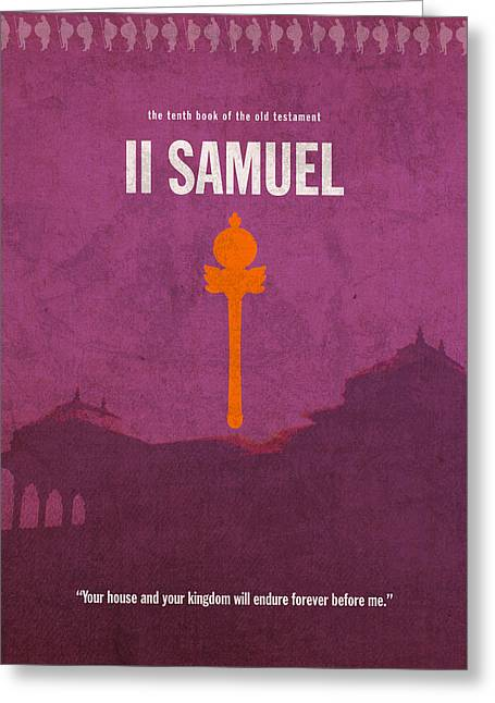 Second Samuel Books Of The Bible Series Old Testament Minimal Poster Art Number 10 Greeting Card by Design Turnpike