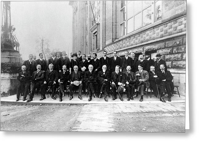 Second Solvay Congress Greeting Card