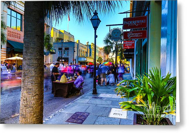 Second Sunday On King St. Charleston Sc Greeting Card