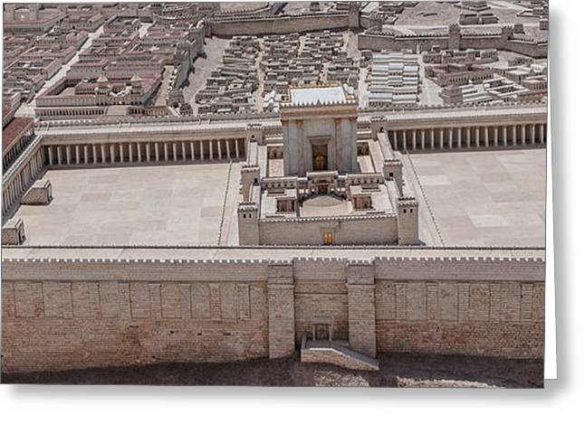 Second Temple Greeting Card by Sergey Simanovsky