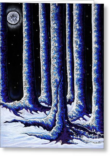 Second Winter Moon Greeting Card by Jo-Anne Elniski