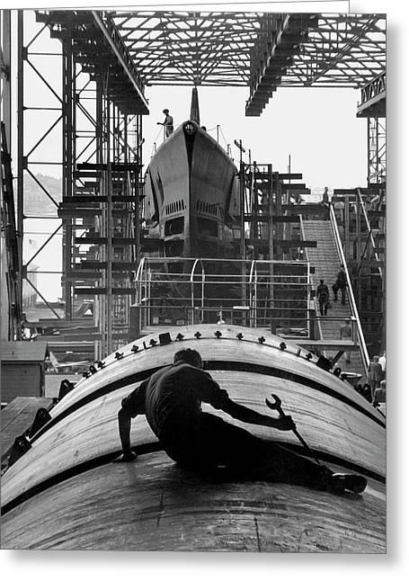 Second World War Submarine Production Greeting Card