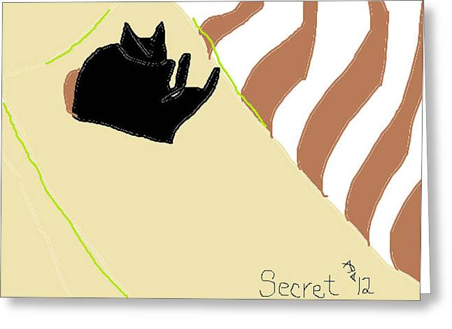 Greeting Card featuring the drawing Secret by Anita Dale Livaditis