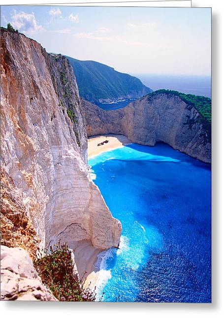 Secret Beach Greeting Card by Aiolos Greek Collections
