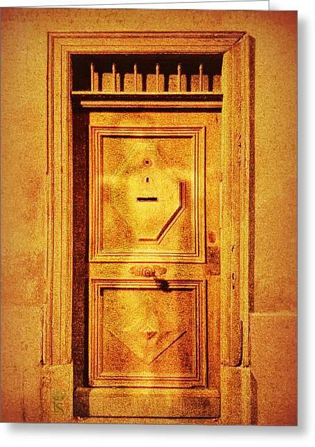 Secret Door Greeting Card by Li   van Saathoff
