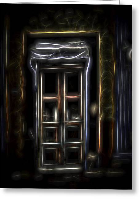 Secret Doorway Greeting Card by William Horden