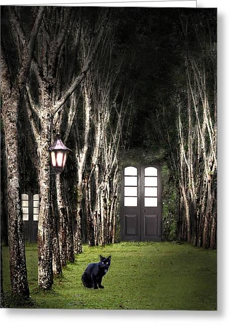 Secret Forest Dwelling Greeting Card by Nirdesha Munasinghe