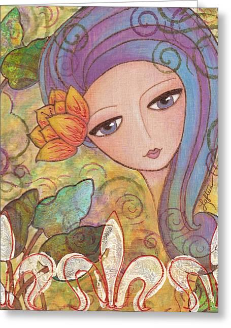 Secret Garden Greeting Card by Joann Loftus
