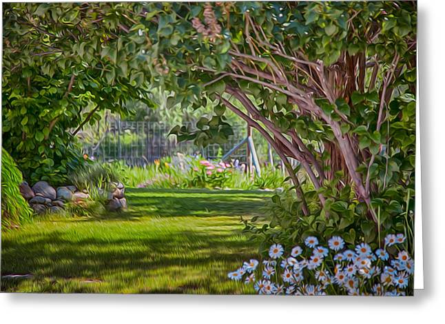Secret Garden Greeting Card by Omaste Witkowski