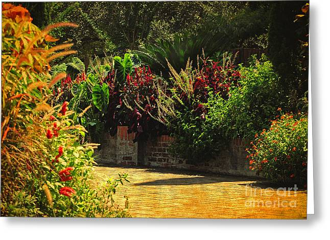 Greeting Card featuring the photograph Secret Garden Path by Kathy Baccari