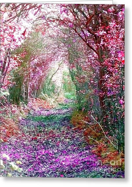 Secret Garden Greeting Card by Vicki Spindler