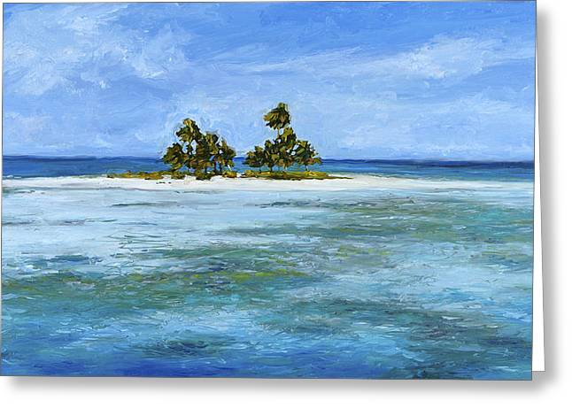 Secret Isle Greeting Card by Stacy Vosberg