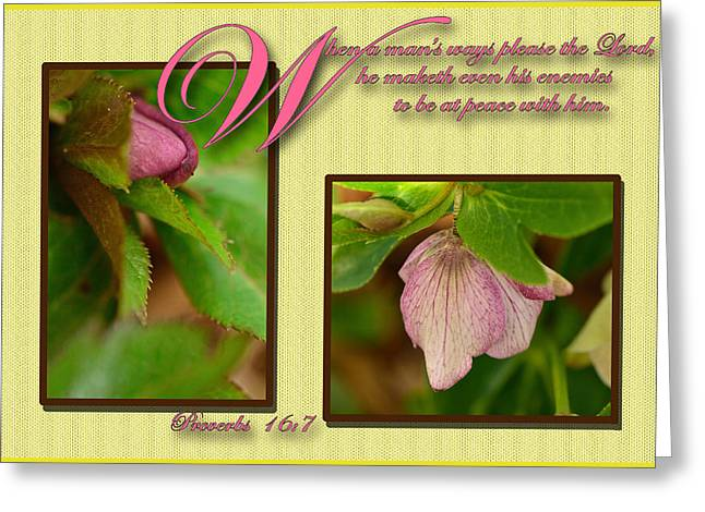 Secret Of Peace Greeting Card by Larry Bishop