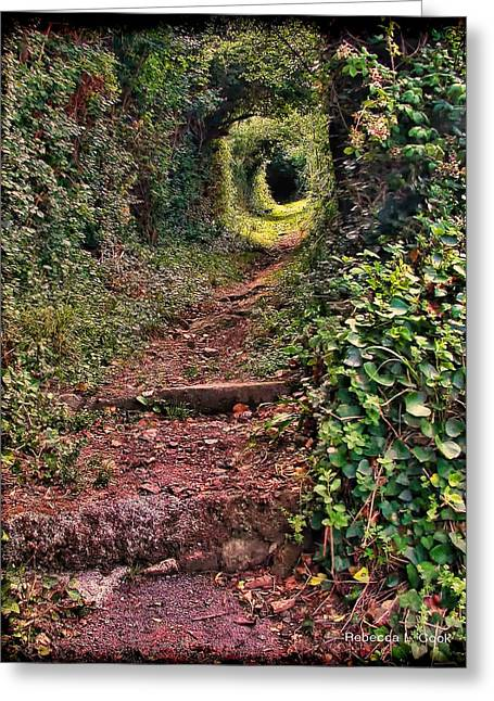Secret Path On Guernsey Greeting Card