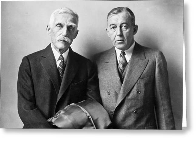 Secretary Andrew Mellon Greeting Card by Underwood Archives