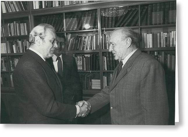 Secretary-general Visits Hungary Greeting Card by Retro Images Archive