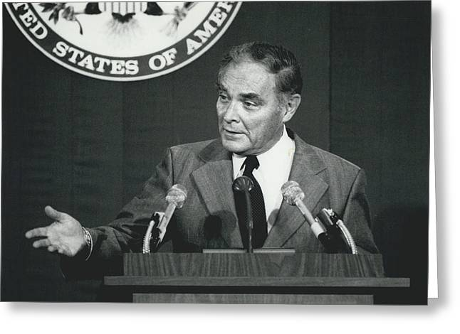 Secretary Haig Holds Press Conference Greeting Card by Retro Images Archive