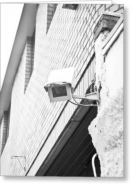 Security Camera Greeting Card by Tom Gowanlock