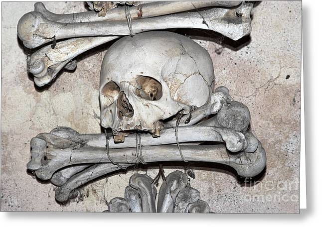 Sedlec Ossuary - Charnel-house Greeting Card by Michal Boubin