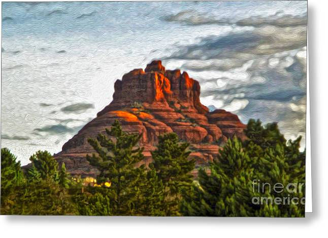 Sedona Arizona Bell Rock Painting Greeting Card by Gregory Dyer
