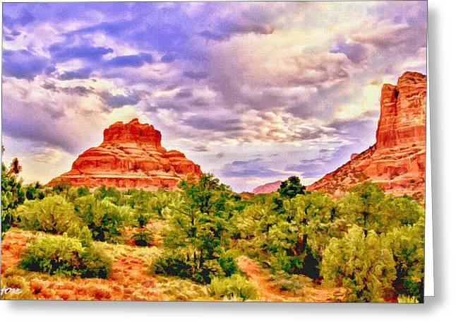 Sedona Arizona Bell Rock Vortex Greeting Card