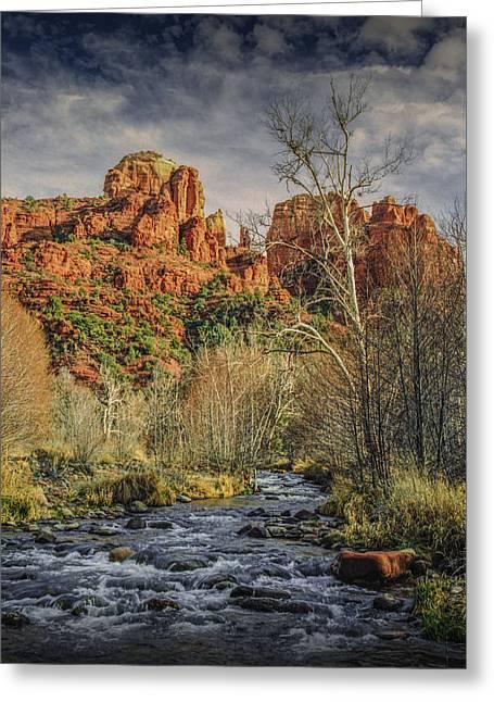 Sedona Arizona By Cathedral Rock Greeting Card