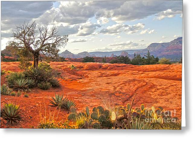 Sedona Arizona Dead Tree - 04 Greeting Card by Gregory Dyer