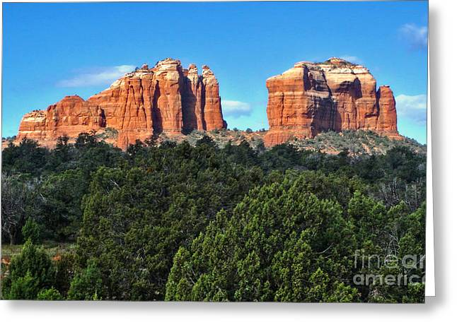 Sedona Arizona Mountains - 04 Greeting Card by Gregory Dyer