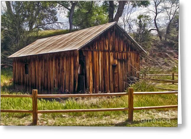 Sedona Arizona Old Barn Greeting Card by Gregory Dyer