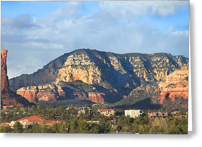 Tree Lines Digital Greeting Cards - Sedona Arizona Panoramic Greeting Card by Mike McGlothlen