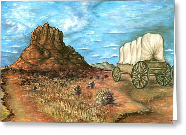 Sedona Arizona - Western Art Painting Greeting Card
