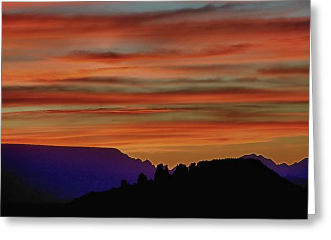 Sedona Az Sunset 2 Greeting Card