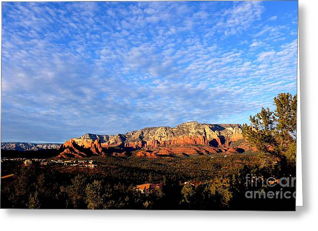 Sedona Landscape Greeting Card by Marlene Rose Besso