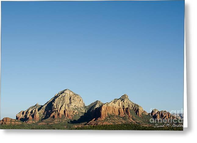 Sedona Landscape X Greeting Card by Dave Gordon