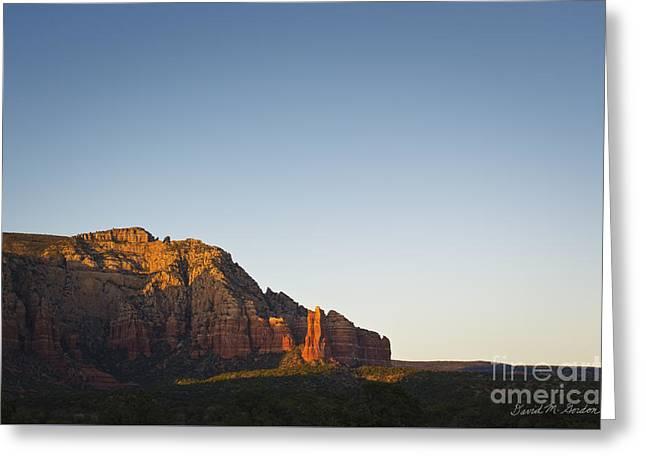 Sedona Landscape Xi Greeting Card by Dave Gordon